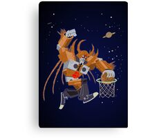 Planet dunk Canvas Print