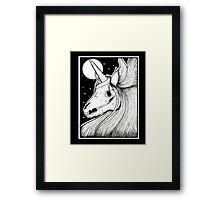 Unicorn Skeleton Framed Print