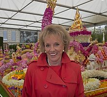 Esther Rantzen at the Chelsea flower show 2015 by Keith Larby