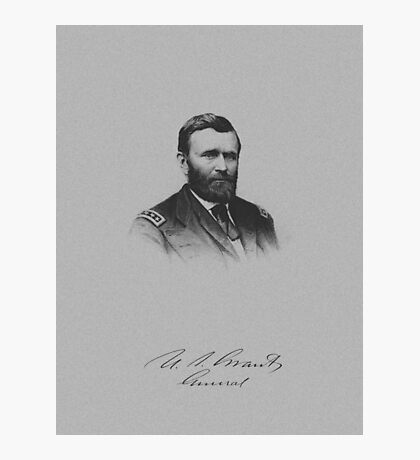 General Ulysses S. Grant And His Signature Photographic Print