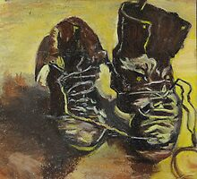A pair of shoes (after Van Gogh) by Osveyre