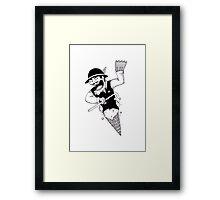 Ice-Groom Webbed Framed Print
