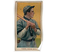 Benjamin K Edwards Collection Joe Tinker Chicago Cubs baseball card portrait 003 Poster
