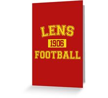 Lens Football Athletic College Style 1 Color Greeting Card