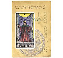 Justice Scales Tarot Card Fortune Teller Photographic Print