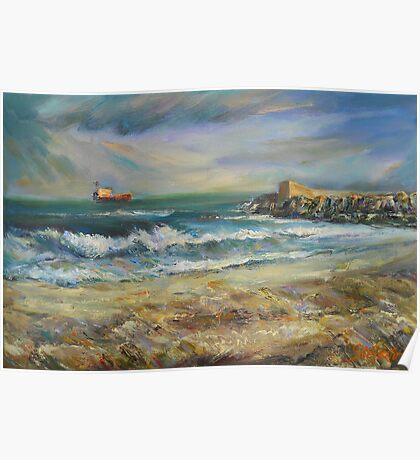 Castellon, deserted beach Poster
