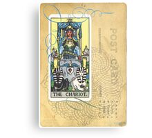 The Chariot Tarot Post Card Metal Print