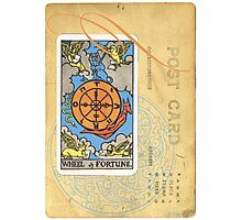 Wheel Of Fortune Blue Tarot Post Card Photographic Print