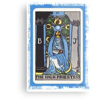 High Priestess Blue Tarot Card Fortune Teller Metal Print