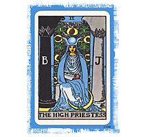 High Priestess Blue Tarot Card Fortune Teller Photographic Print