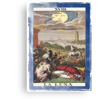 La Luna Blue Moon Tarot Card Canvas Print