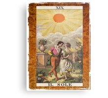 Il Sole Sun Tarot Card Metal Print