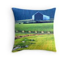 Winter Wheat,Gettysburg  Throw Pillow