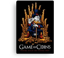 Game of Coins Canvas Print