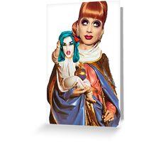 The Virgin Bianca & Adore Christ Greeting Card