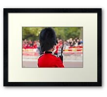 Guardsman on duty in the Mall london Framed Print