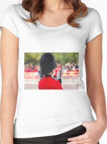 Guardsman on duty in the Mall london Women's Fitted Scoop T-Shirt