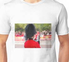 Guardsman on duty in the Mall london Unisex T-Shirt