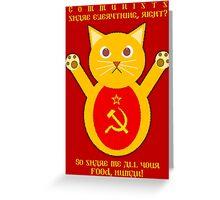 Comrade cat Greeting Card