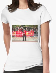 Guardsman on duty in the Mall london Womens Fitted T-Shirt