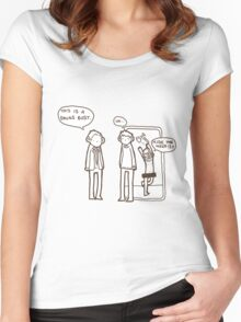 """""""It's a drugs bust"""" Women's Fitted Scoop T-Shirt"""
