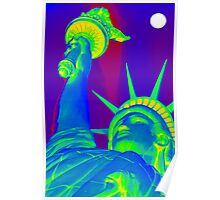 Lady Liberty in the Moonlight Poster