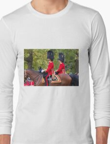 Guardsman on horseback in the Mall in London Long Sleeve T-Shirt