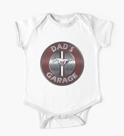 Always Thru Dad's Mustang Garage One Piece - Short Sleeve