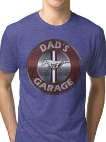Always Thru Dad's Mustang Garage Tri-blend T-Shirt