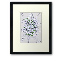 0209 - Hopeful Fragments coming out Framed Print