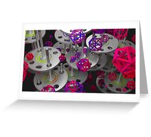What are those!? - Abstract render Greeting Card