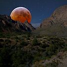 Moon Rise- Big  Bend National Park, TX by StonePics
