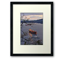 Mayne Queen Navy Channel  Framed Print