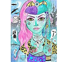 Psychobilly Dead Girl Photographic Print