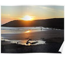 Pembrokeshire - sunset Poster