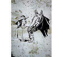 Western Cowgirl Horse Photographic Print