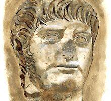 Head of Emperor Nero, 67–68 d.C., Rome by Greta Art