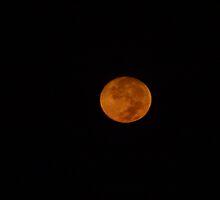 Red moonset - Puesta de la luna by Bernhard Matejka