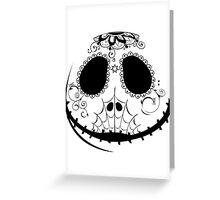 Candy Jack - Black Greeting Card