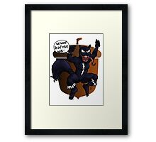 The unbeatable Squirrel Venom Framed Print