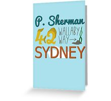P. Sherman 42 Wallaby Way Sydney Greeting Card