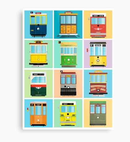 Streetcars of San Francisco Metal Print