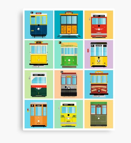 Streetcars of San Francisco Canvas Print