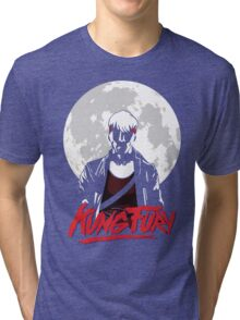 Kung Fury - Moon Tri-blend T-Shirt