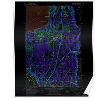 USGS Topo Map Washington State WA Poverty Bay 243266 1961 24000 Inverted Poster