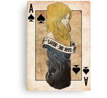 Ace of Spades: Emma Swan Canvas Print