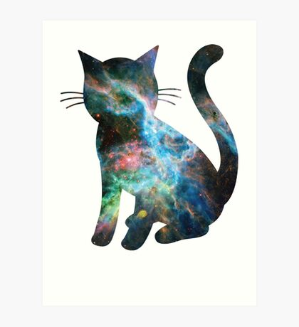 Tarantula Nebula Less Red | Space Kitty Art Print