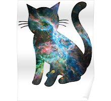 Tarantula Nebula Less Red   Space Kitty Poster