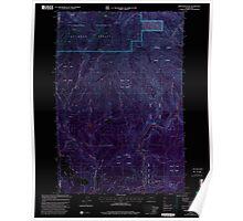 USGS Topo Map Washington State WA Bobs Mountain 240136 2000 24000 Inverted Poster