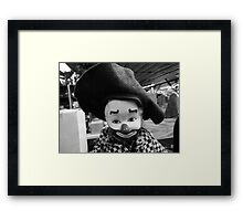 Clown Doll of Rocky Comfort Framed Print